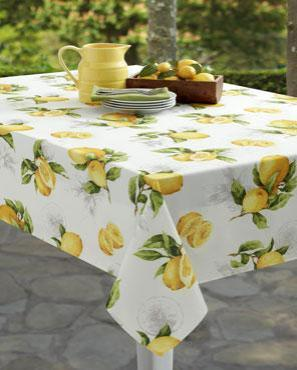 Limoncello Indoor/Outdoor Spill-proof Fabric Tablecloth