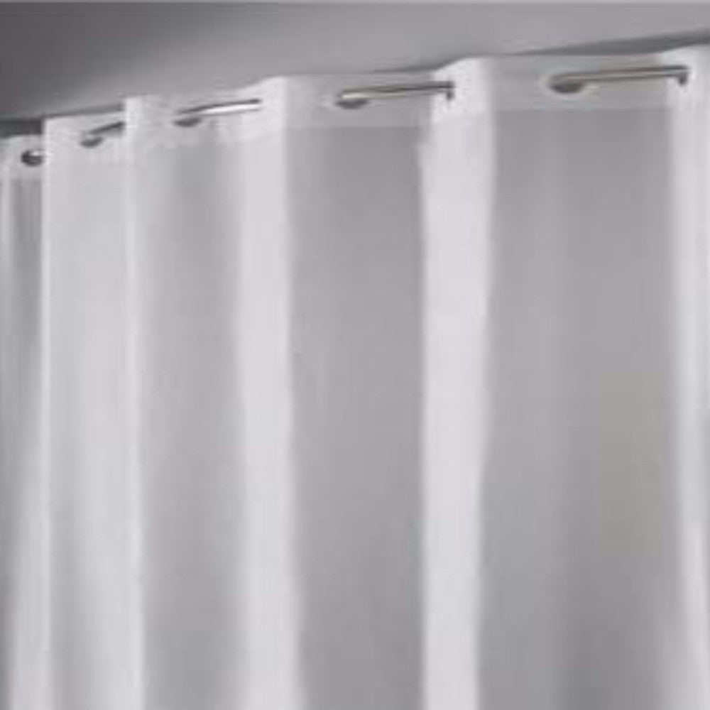 Hookless Vinyl Shower Curtain Liner Frosty Zoom