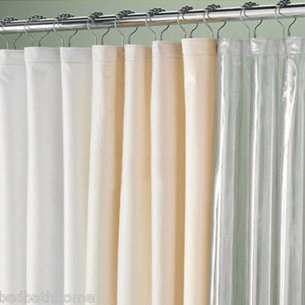 ... Extra Wide Shower Curtain Liners White Beige Clear