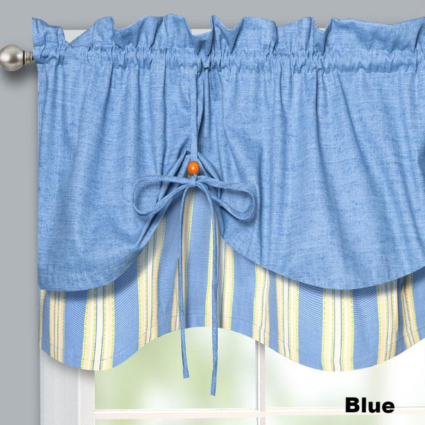 Lisa-Stripe-Tie-up-Valance-Blue