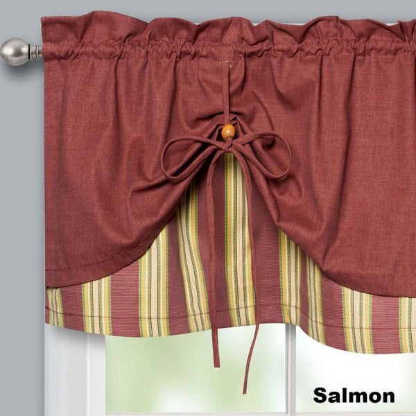 Lisa-Stripe-Tie-up-Valance-Salmon