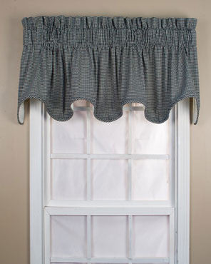 Logan Check Lined Scalloped Valance