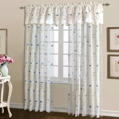 Loretta Sheer Embroidered Panel and Valance