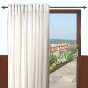 Lucerne Semi Sheer Pleat Patio Panel-Zoom