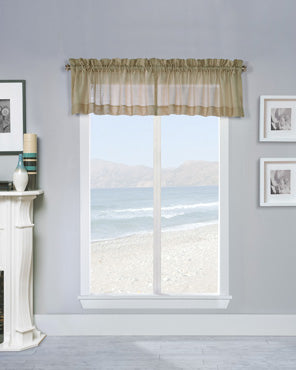 Mist Stripe Semi Sheer Valance