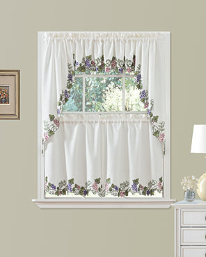 Madalynn Kitchen Tiers, Valance and Swags