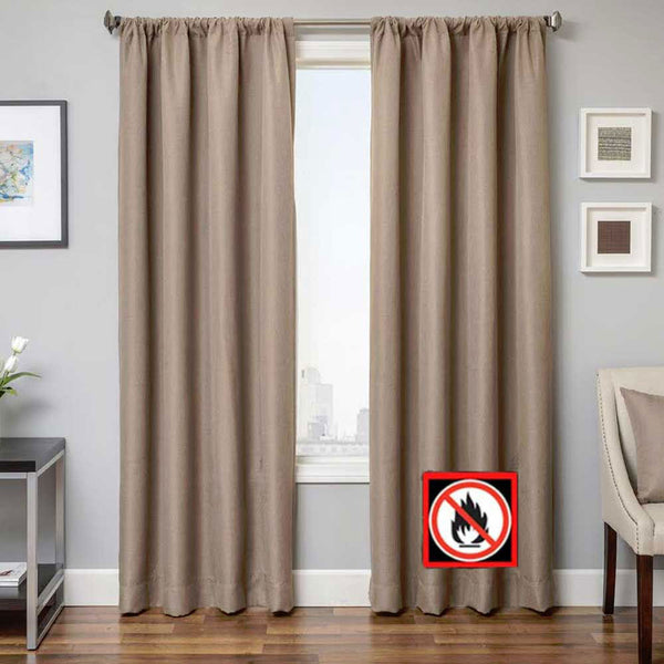 Malibu Flame Retardant Rod Pocket Panel Softline Home