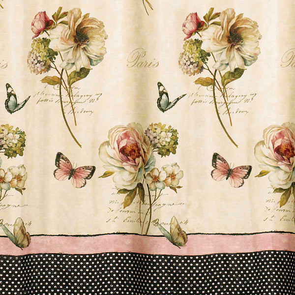 Close up shot of Multi Marche Aux Fleurs Fabric Shower Curtain fabric