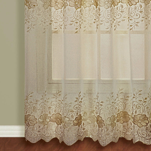 Marianna-Sheer-Rod-Pocket-Panel-With-Attached Valance-Mocha-Zoom