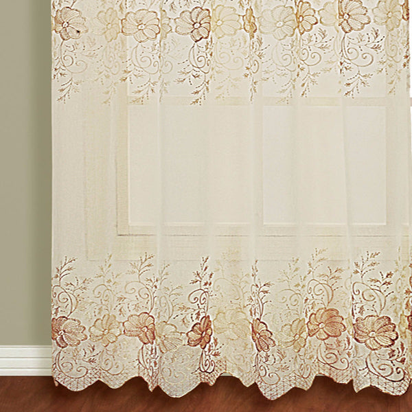 Marianna-Sheer-Rod-Pocket-Panel-With-Attached Valance-Natural-Zoom