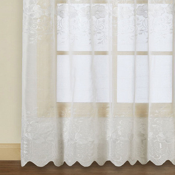 Marianna-Sheer-Rod-Pocket-Panel-With-Attached Valance-White-Zoom