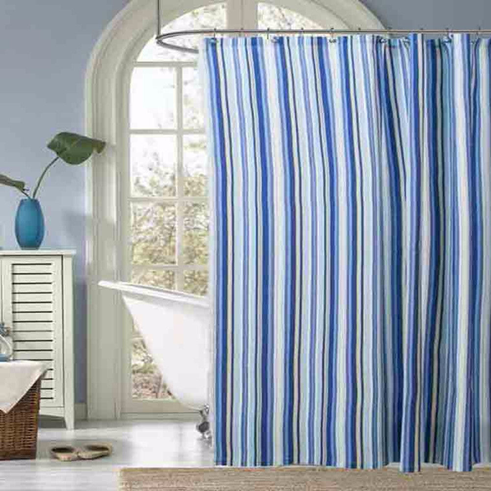 Mason Stripe Fabric Shower Curtain/ Ellis Curtain