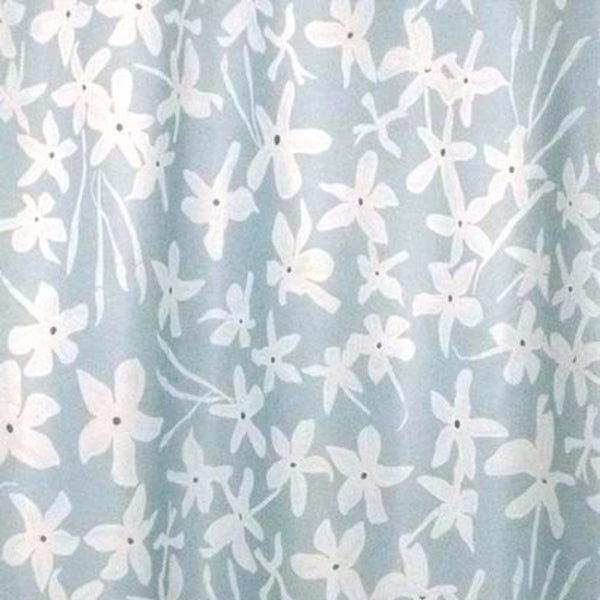 Closeup of Blue Maui Valance fabric