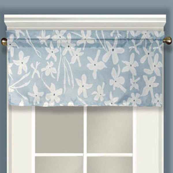 Maui Valance hanging on a curtain rod