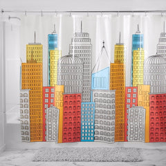 Metropolitan- Peva- Shower Curtain-Frosty-Zoom