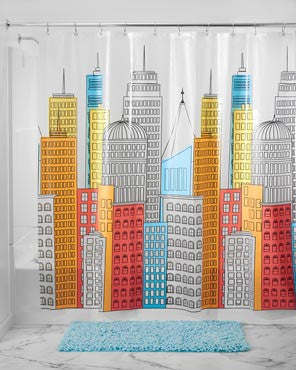 Metropolitan Peva Shower Curtain