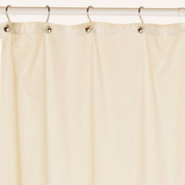 Closeup of Clear Mildew-Resistant Shower Curtain Liner