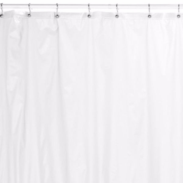 Closeup of Frosty Clear Mildew-Resistant Shower Curtain Liner