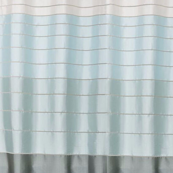 Close up shot of Pastel Modena Stripe Pastel Fabric Shower Curtain fabric