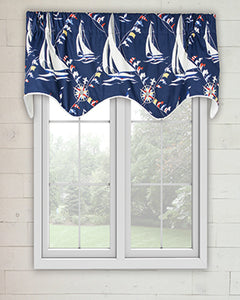 Nautical Sail Scalloped Valance