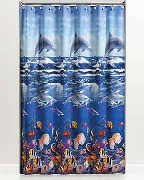 Ocean Life Peva Vinyl Shower Curtain