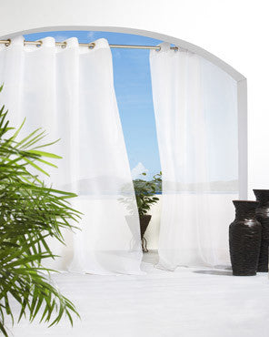Cote D'Azure Indoor/Outdoor Sheer Grommet Top Panel