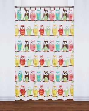 Owl Peva Shower Curtain
