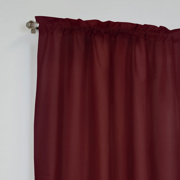 Closeup of Burgundy Prescott Pole Top Panel Pair fabric