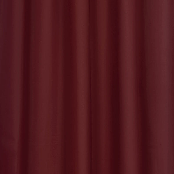 Closeup of Burgundy Thermalogic Prescott 5 Piece Solid Curtain Panel Pair fabric
