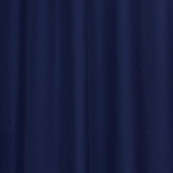 Closeup of Navy Thermalogic Prescott 5 Piece Solid Curtain Panel Pair fabric