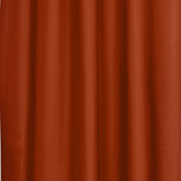 Closeup of Spice Thermalogic Prescott 5 Piece Solid Curtain Panel Pair fabric