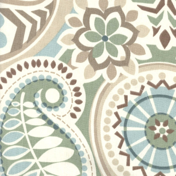 Closeup of Paisley Prism Arch Valance fabric