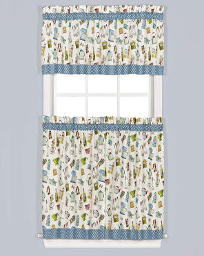 Pantry Aplenty Tier & Valance 3-Piece Set