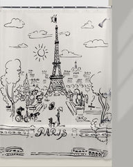 Paris -Day -Vinyl- Shower Curtain