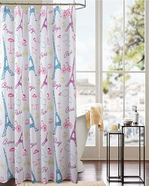 Paris Fabric Shower Curtain