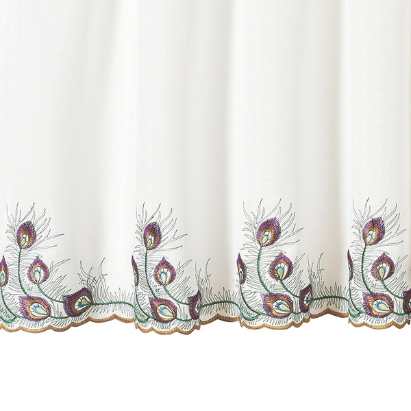 Peacock Kitchen Tier, Valance and Swags