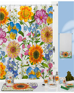 Perennial Fabric Shower Curtain