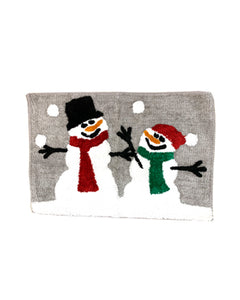 Plaid Snowman Bath Rug