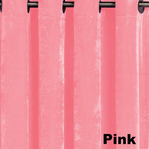 up close shot of Pink Plush Grommet Top Panel fabric