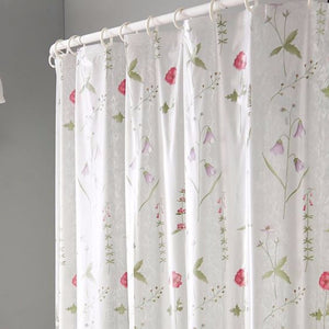 Poppies Eva Vinyl Shower Curtain