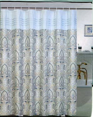 Raine Woven Printed- Fabric- Shower Curtain