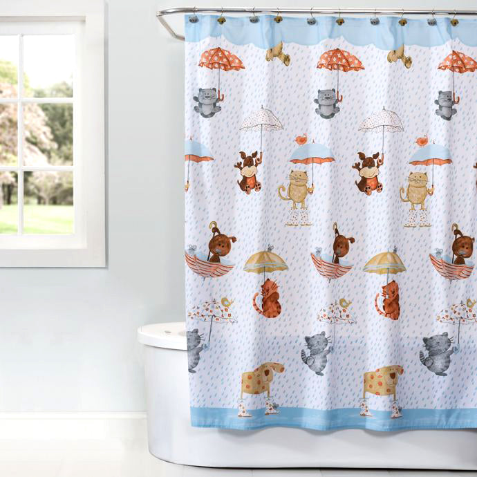 Raining Cats and Dogs Shower Curtain & Accessories