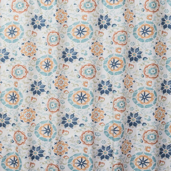 Close up shot of Multi Renee Fabric Shower Curtain fabric