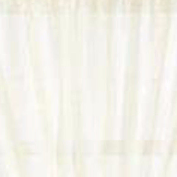 Close up shot of eggshell Reverie Snow Voile Tailored Door Panel fabric