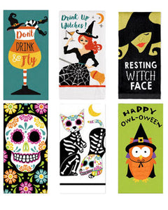 Happy Halloween Kitchen Towels assortment
