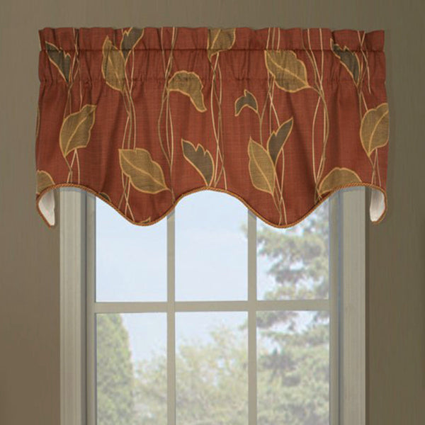 Riviera Duchess Filler Valance hanging on a curtain rod