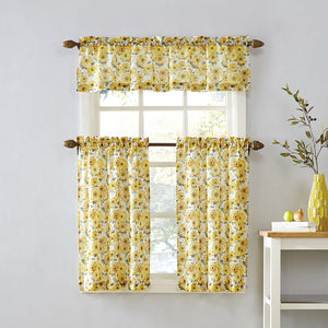 Sunshine Kitchen Tiers, Valance and Swags