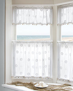 Sand Dollar Kitchen Tier and Valance