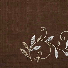Scroll Leaf Tier & Valance-Mocha