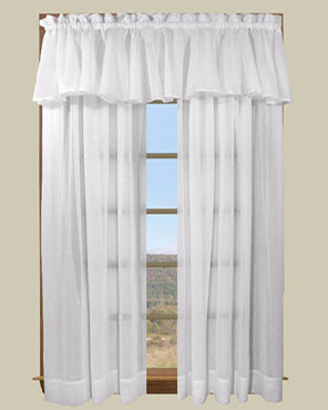 Sea Glass Semi Sheer Panel and Valance